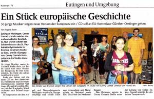 Artikel im Schwarzwälder Bote am 31.07.2014